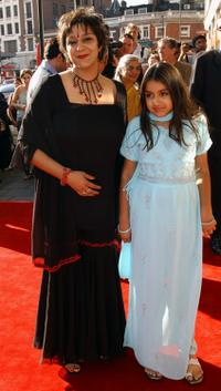 Meera Syal and Millie at the world premiere of
