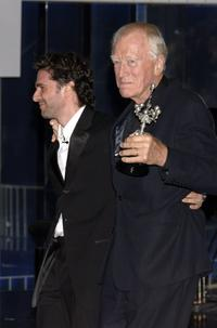 Max von Sydow and Leonardo Sbaraglia at the 54th San Sebastian Film Festival.