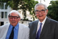 Eric Sykes and Dennis Norden at the Harper Collins Summer Party.