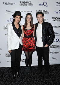 Director Francesca Gregorini, Kaya Scodelario and Aneurin Barnard at the premiere of