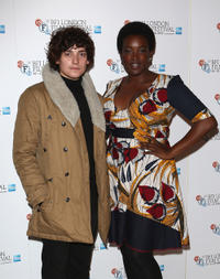 Aneurin Barnard and Wunmi Mosak at the premiere of