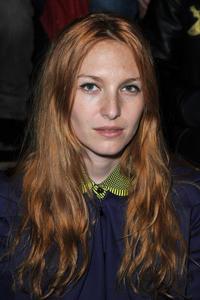 Josephine de la Baume at the John Galliano Ready-To-Wear Fall/Winter 2012 show during the Paris Fashion Week in France.