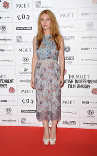 Josephine de la Baume at the Moet British Independent Film Awards 2011 in London.