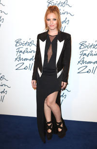 Josephine de la Baume at the British Fashion Awards 2011 in London.