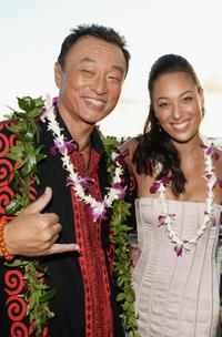 Cary-Hiroyuki Tagawa and Aya Sumika at the world premier of