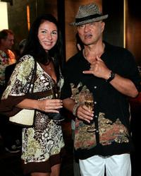 Cary-Hiroyuki Tagawa and Guest at the opening of the Waikiki Nobu Restaurant.