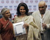 Sheila Dikshit, Sharmila Tagore and Yash Chopra at the FICCI Ladies Organization (FLO) awards function.