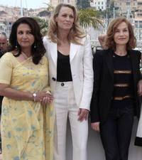 Sharmila Tagore, Robin Wright Penn and Isabelle Huppert at the 62nd International Cannes Film Festival.