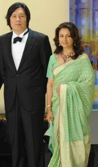 Lee Chang-Dong and Sharmila Tagore at the Opening Ceremony during the 62nd International Cannes Film Festival.