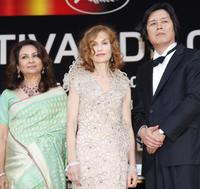 Sharmila Tagore, Isabelle Huppert and Lee Chang-Dong at the Opening Ceremony and screening of