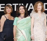 Christine Albanel, Sharmila Tagore and Isabelle Huppert at the Opening Ceremony and screening of