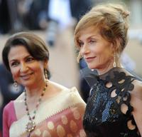Sharmila Tagore and Isabelle Huppert at the screening of