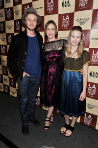 Boyd Holbrook, Vera Farmiga and Taissa Farmiga at the premiere of