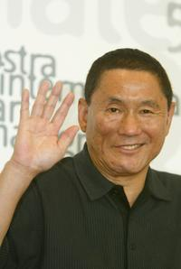 Beat Takeshi Kitano at the 59th Venice Film Festival photocall.