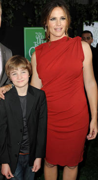 CJ Adams and Jennifer Garner at the California premiere of