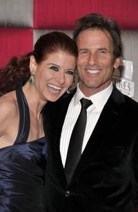 Debra Messing and Hart Bochner at the 66th Annual Golden Globe Awards.
