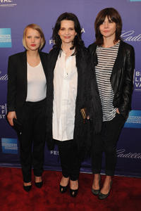 Joanna Kulig, Juliette Binoche and director Malgoska Szumowska at the premiere of