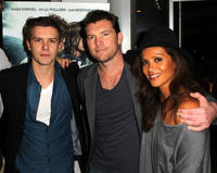 Xavier Samuel, Sam Worthington and Lesley Ann Brandt at the California premiere of