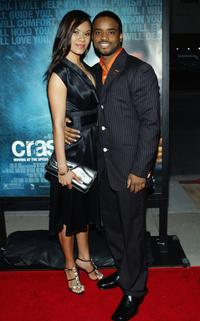 Larenz Tate and guest at the premiere of