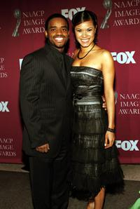 Larenz Tate and guest at the 36th NAACP Image Awards.