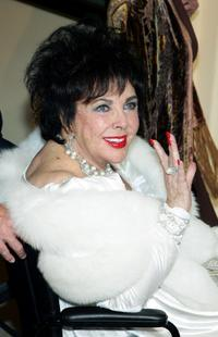Elizabeth Taylor at her 75th birthday party.