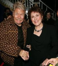 Rip Taylor and Judy Kaye at the after party of the Broadway opening of