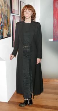 Leigh Taylor-Young at the actress/artist Sally Kirkland's art exhibit.