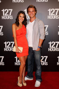 Rhiannon Fish and Lincoln Lewis at the Australian premiere of