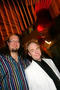 Penn Jillette and Teller at the fourth anniversary party of