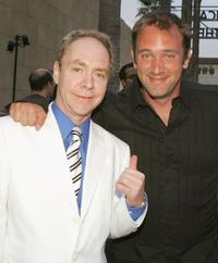 Teller and Trey Parker at the Los Angeles premiere of