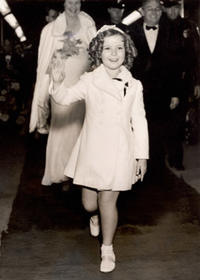 Shirley Temple at the premiere of