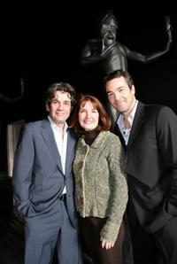 Alan Rosenberg, Producer Kathy Connell and Jon Tenney at the 14th Annual Screen Actor's Guild Awards.