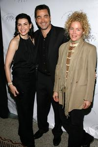 Julianna Margulies, Jon Tenney and Amy Irving at the 2008 New York Stage and Film Gala.