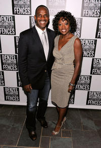 Julius Tennon and Viola Davis at the after party of the Broadway Opening Night of