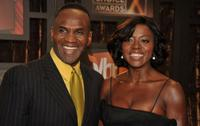 Julius Tennon and Viola Davis at VH1's 14th Annual Critics' Choice Awards.