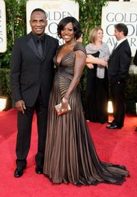 Julius Tennon and Viola Davis at the 66th Annual Golden Globe Awards.