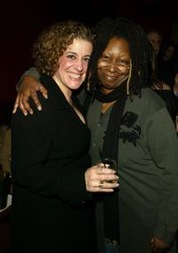 Mary Testa and Whoopi Goldberg at the dinner hosted by Miramax.
