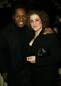 Wren Brown and Mary Testa at the dinner hosted by Miramax.