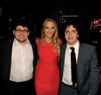Jonathan Daniel Brown, Kirby Bliss Blanton and Oliver Cooper at the California premiere of