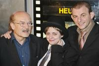 Director Volker Schloendorff, Katharina Thalbach and Dominik Horwitz at the German premiere of