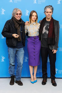 Director Jacques Doillon, Sara Forestier and James Thierree at the photocall of