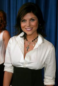 Tiffani-Amber Thiessen at the FOX 2002 Upfronts.