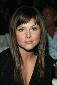 Tiffani-Amber Thiessen at the Badgley Mischka Fall/Winter 2003 Collection fashion show.