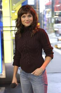 Tiffani-Amber Thiessen at the MTV Times Square Studios.