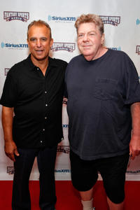 Jay Thomas and George at the Sirius XM Annual Celebrity Fantasy Football Draft in New York.