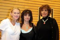 Andrea Thompson, Marilyn Kentz and Mary Ann Halpin at the book signing of