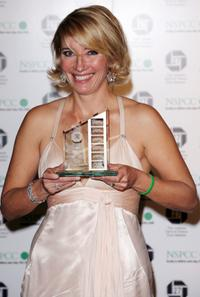Emma Thompson at The London Film Critics Circle Awards picks up Meryl Streeps award for Actress of The Year.