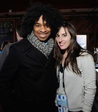 Terence Nance and Ry Russo-Young at the Alfred P. Sloan foundation Reception & Prize Announcement during the 2012 Sundance Film Festival.