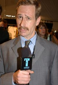 Scott Thompson at the Esteban Cortazar Spring 2005 fashion show during the Olympus Fashion Week Spring 2005.
