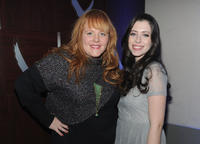 Screenwriters Katie Anne Naylon and Lauren Anne Miller at the dinner party of